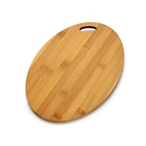 Bamboo Board Oval Shaped, engraved oval board, branded chopping board