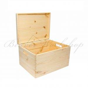 Large wooden box, engraved wooden box (1)
