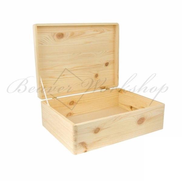 Rectangular wooden box, laser engraved memory box (1)