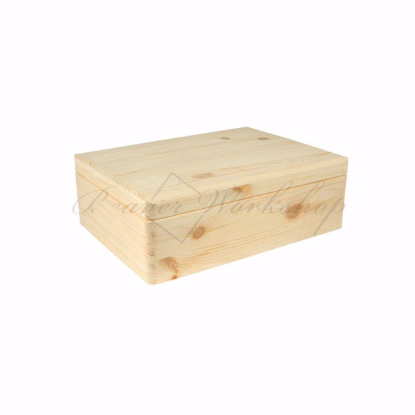 Rectangular wooden box, laser engraved memory box (2)