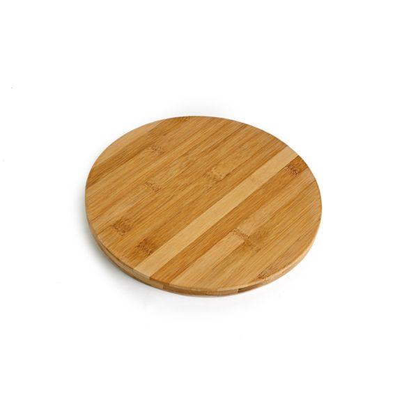 Small Round Bamboo Board, branded board