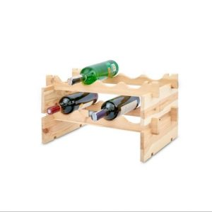 Small wooden wine stand