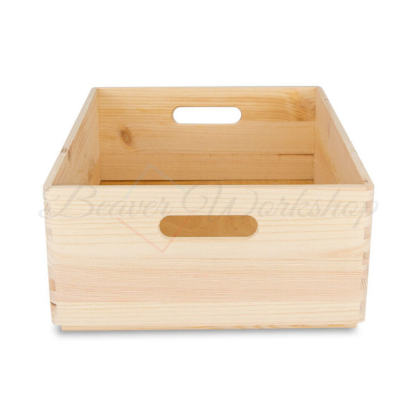 Stackable Wooden Storage Box