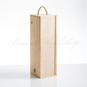 Wine box, sliding lid, wooden wine box, laser engraved wine boxes