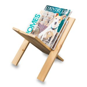 Wood Newspaper Rack