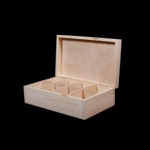 Wooden Tea Box, Personalised Tea Boxes, Engraved Tea Box