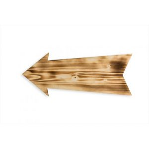 Wooden sign – Arrow
