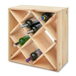 Wooden wine racking
