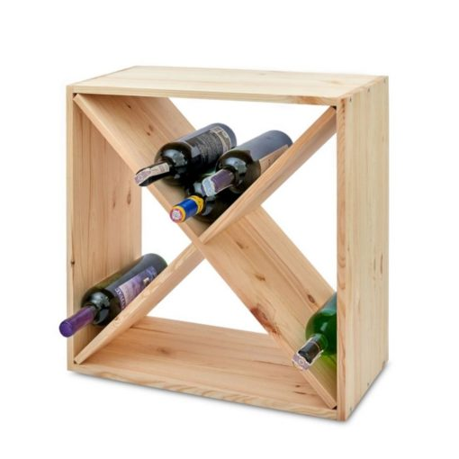 large wooden wine racking
