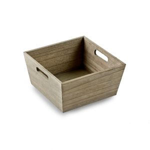 Deep Square Wooden Tray