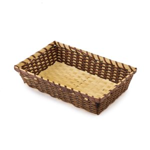 Large Dark Bamboo Rope Tray