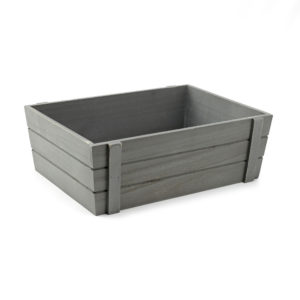 Large Grey Wooden Crate, Large display boxes, wooden crates