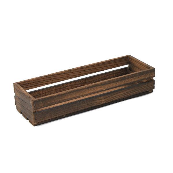 Medium Dark Wooden Crate, Rustic wooden crate
