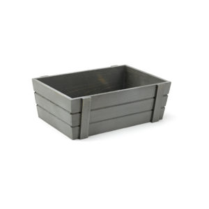 Medium Grey Wooden Crate, wooden crate, storage crate