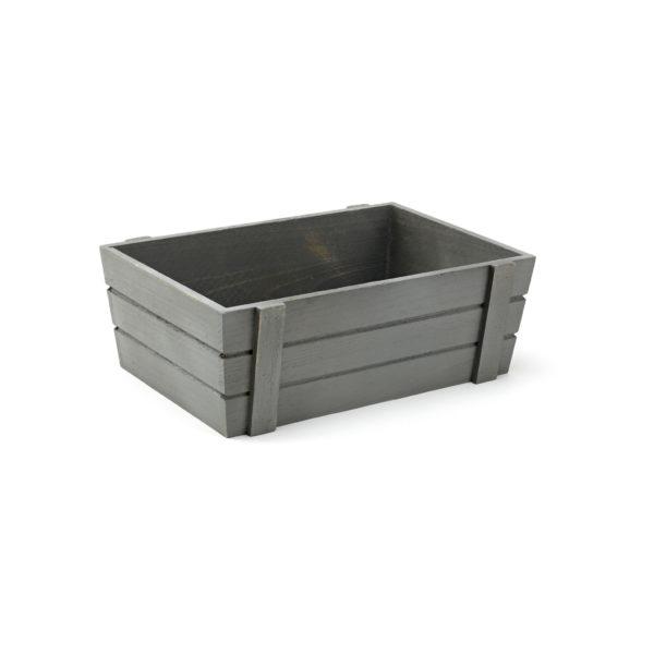 Medium Grey Wooden Crate, wooden crate, storage crate