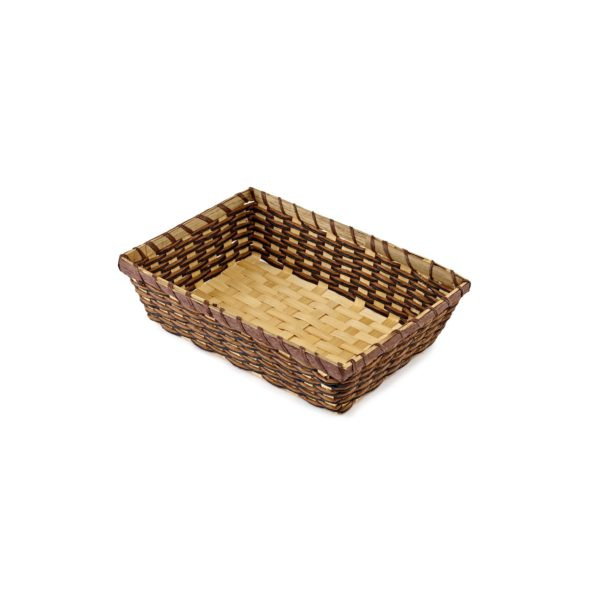 Small Dark Bamboo Rope Tray