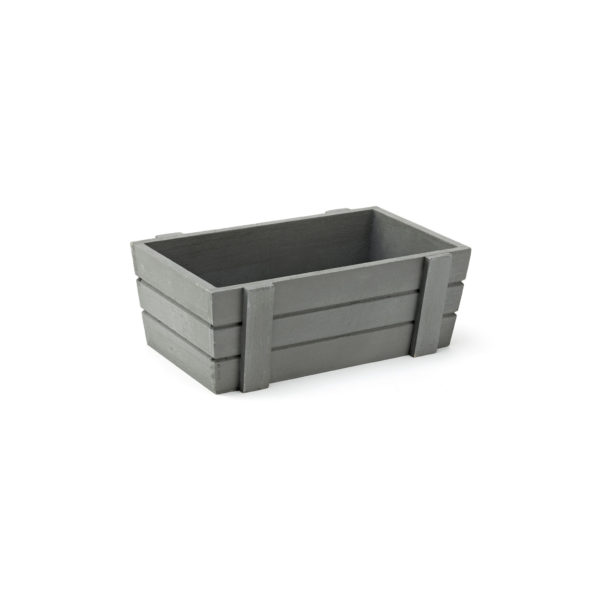 Small Grey Wooden Crate, Display box, wooden crate