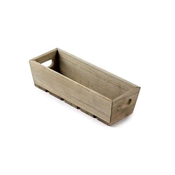 Small Wooden Trough, rustic storage box