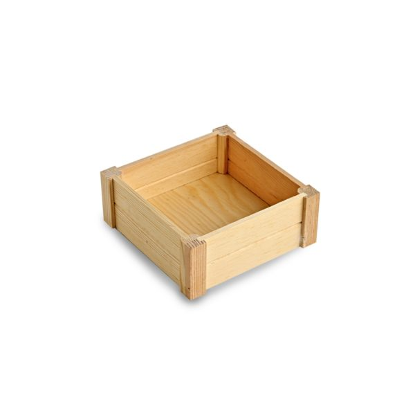 Square Wooden Crate, wooden display box, wooden crate