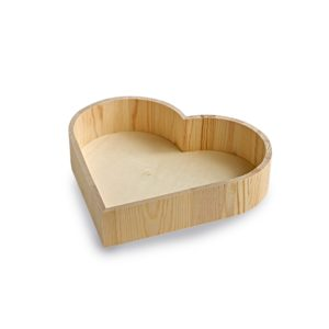 Wooden Heart Shaped Tray, display box, heart display box
