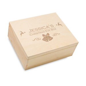 Engraved Christmas Box, Personalised wooden Box