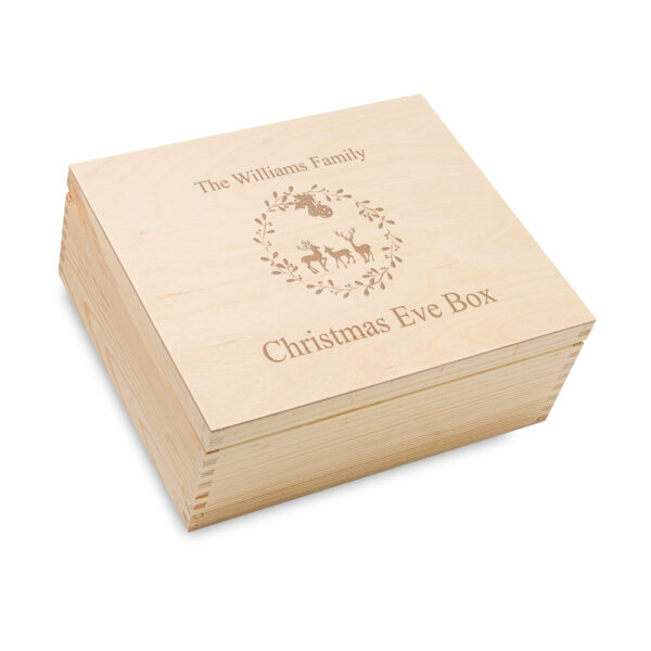 Engraved christmas box, Personalised Christmas Eve Box