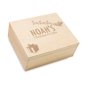 Merry christmas eve box, personalised wooden box