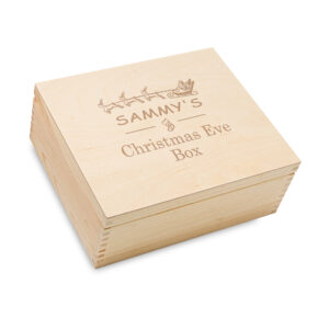 Personalised wooden Christmas box, Engraved Christmas Box