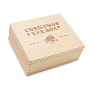 Wooden Christmas Eve box, Laser Engraved Christmas Box