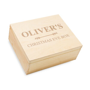 christmas eve box, engraved christmas box