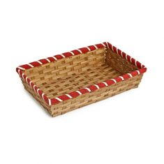 Bamboo Tray with Red Border
